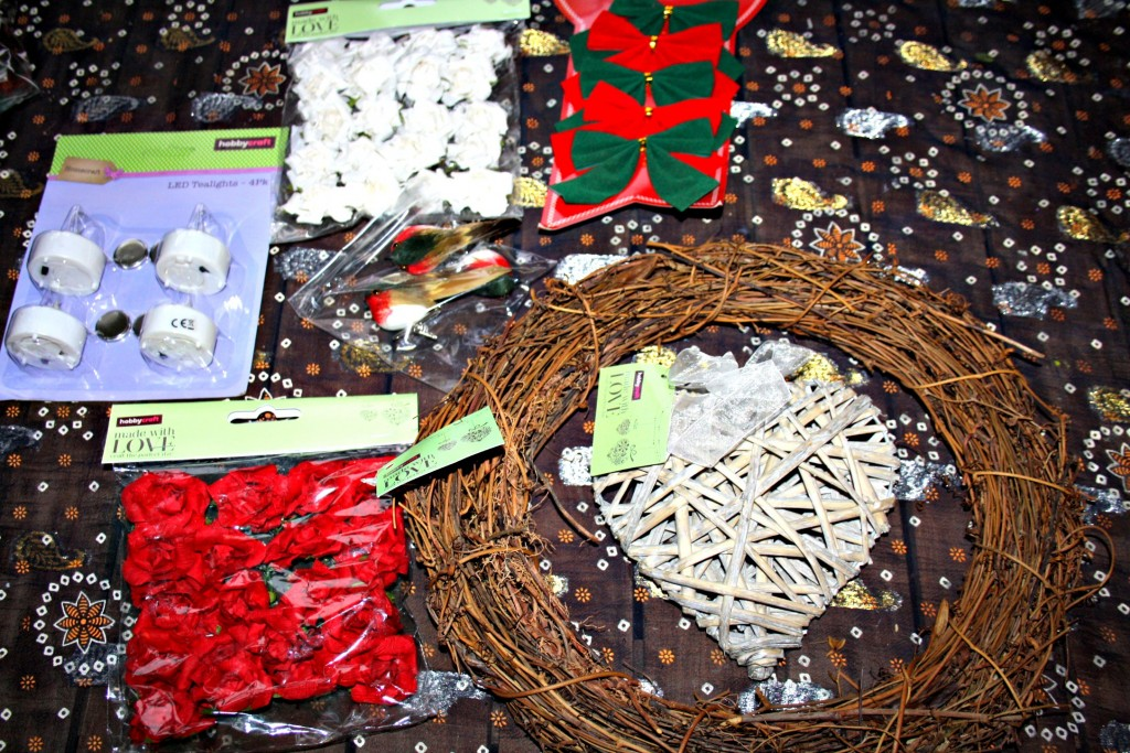 making a wreath with hobbycraft