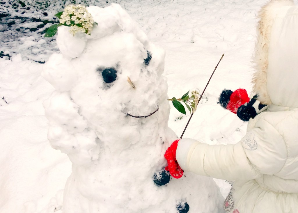 Elsie and Elsa the snow woman