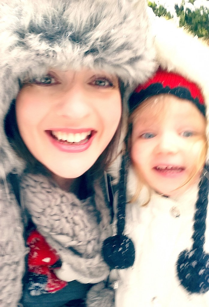 me and Elsie enjoy the snow