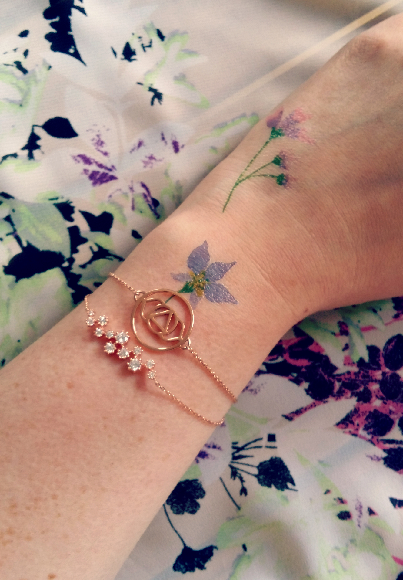 Rose Gold Jewellery And Flower Tattoos