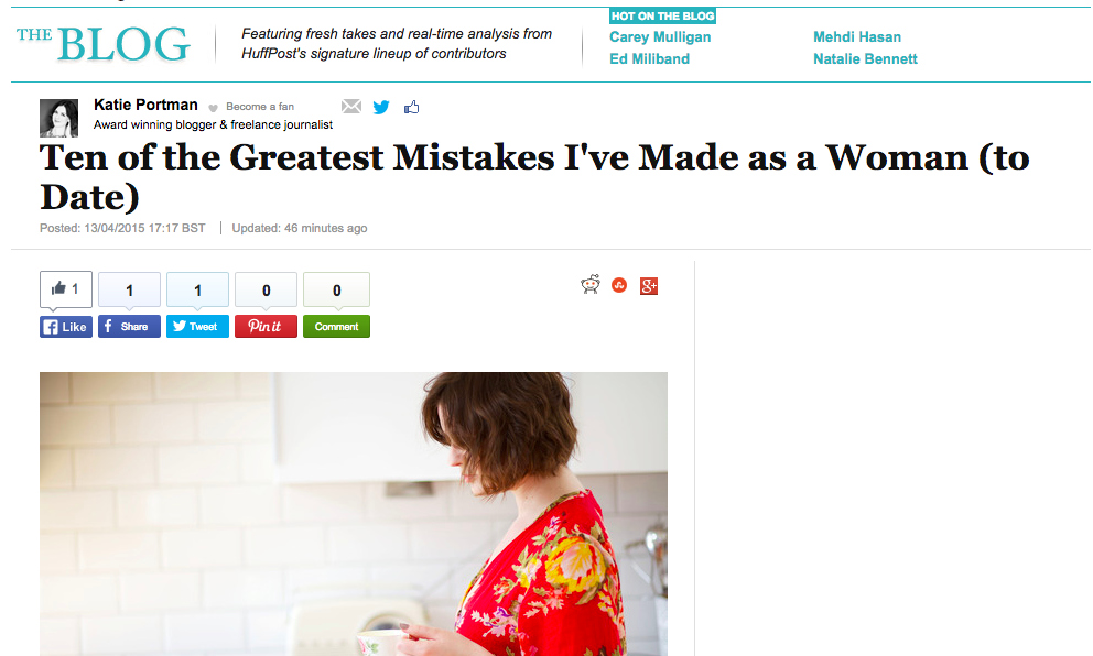 Pouting In The Huffington Post