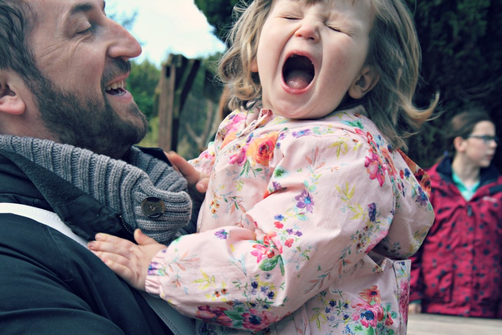 Elsie and Daddy laughing