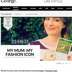 FEATURED ON GEORGE – MY MUM: MY FASHION ICON